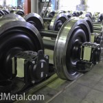 Часть колесных пар укомплектовываются тормозными буксами