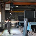 Еще горячий лист перемещают в другой цех Steel Work Кривой Рог