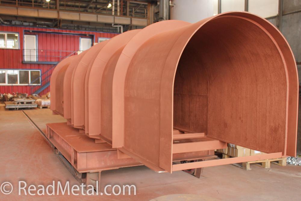 Готовое изделие из биметалла на заводе Steel Work / Стил Ворк (Кривой Рог)
