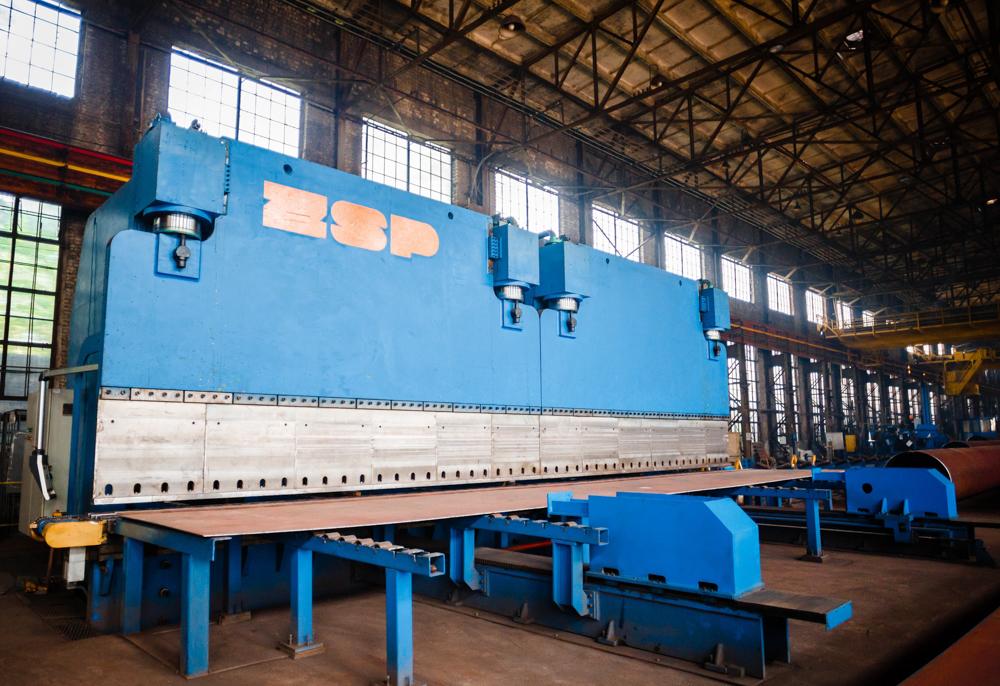 Пошаговый пресс для производства 12-метровых ТБД